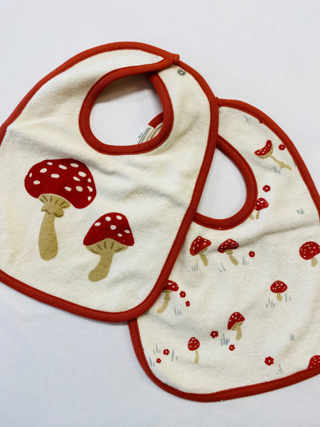 Nature Baby - Reversible Bib - Mushroom Valley Print