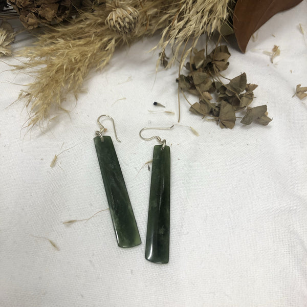 Greenstone Earrings - Long