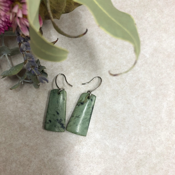 Greenstone Earrings Medium