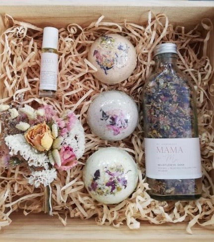 Mama + Me - Wooden Gift Hamper Crate - Relax