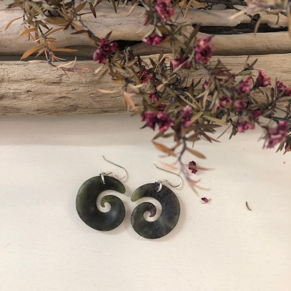 Greenstone Twist Earrings