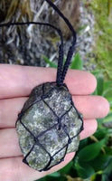 Labradorite Macrame Crystal Necklace