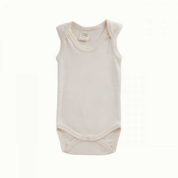 Singlet Body Suit Natural NB