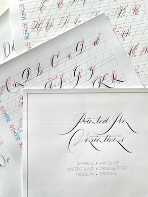 Modern Calligraphy - 6 Pointed Pen Variations