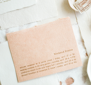 Peach Colored Handmade Paper