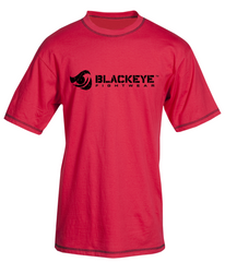Block Series - Regular Fit - Red with Distressed Black (Exposed Stitching)