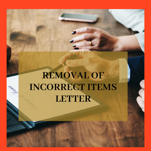 Removal of Incorrect Items Letter