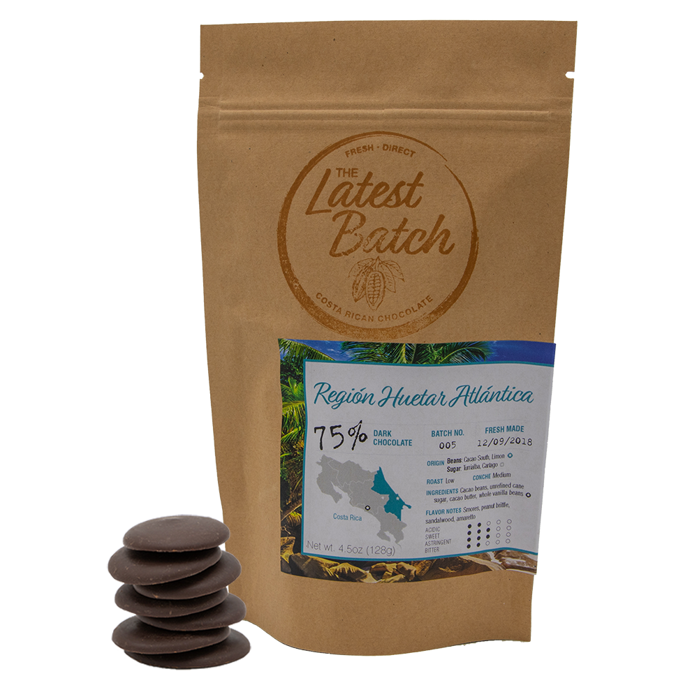 75% Dark Chocolate with Costa Rican Vanilla (4.5oz)