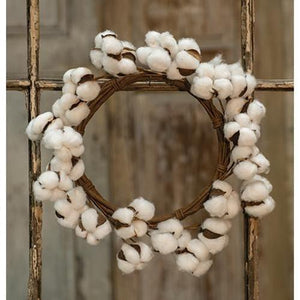 "12"" Cotton Pod Wreath"