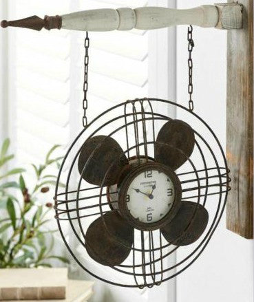 Vintage Fan Clock (Attaches to Arrows-Sold Separately)