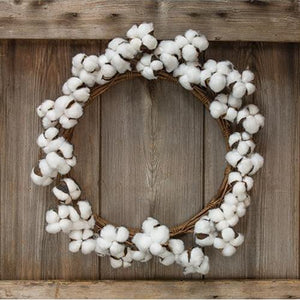 "17"" Cotton Pod Wreath"