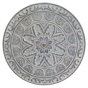 Distressed Blue Wall Medallion