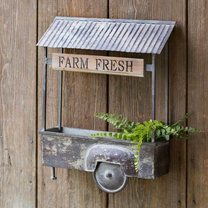 Farm Truck Wall Planter Decor