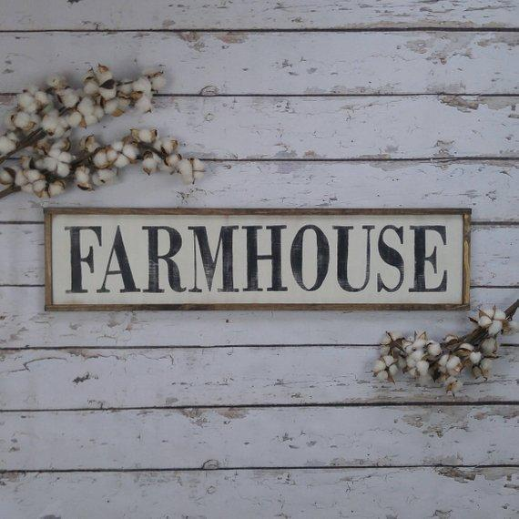 Farmhouse Wood Sign- Handmade