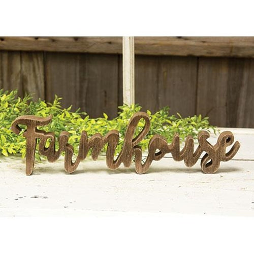Farmhouse Wooden Word