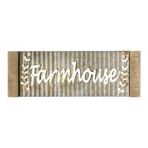Framed Corrugated Metal Farmhouse Sign