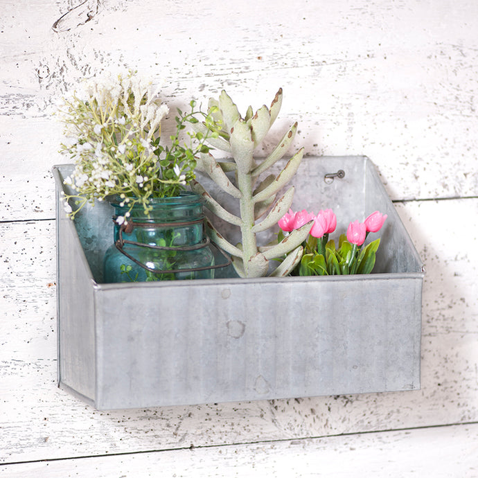 Galvanized Tin Wall Bin