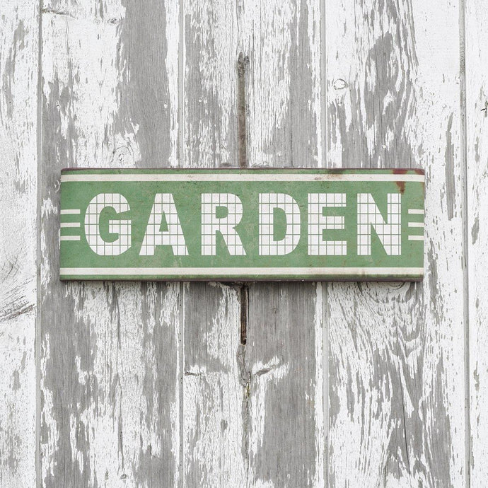 Garden Rustic Metal Sign - Decor Daily Deals