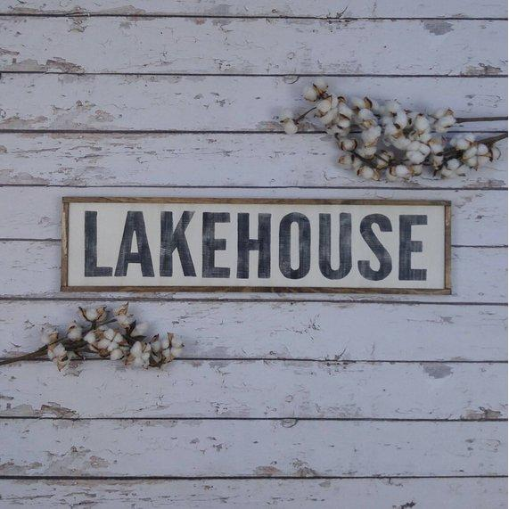 Lakehouse Wood Sign- Handmade