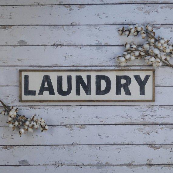 Laundry Wood Sign- Handmade