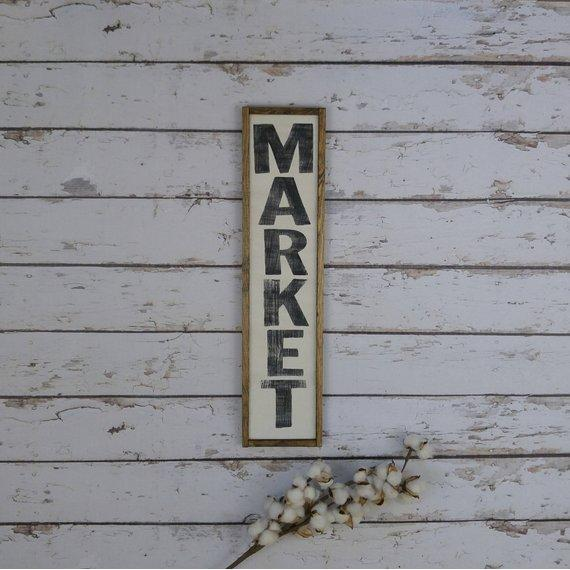 Market Wood Sign- Handmade