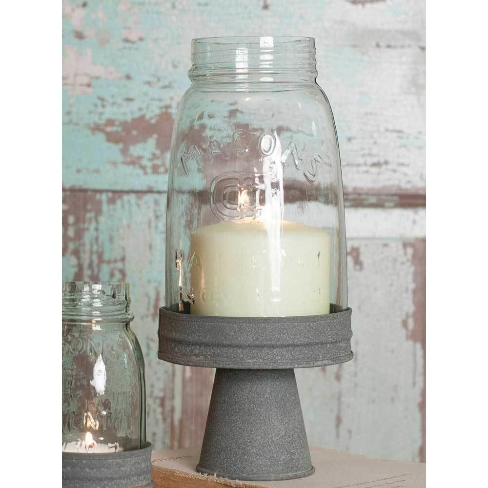 Mason Jar Chimney with Stand- Quart Size