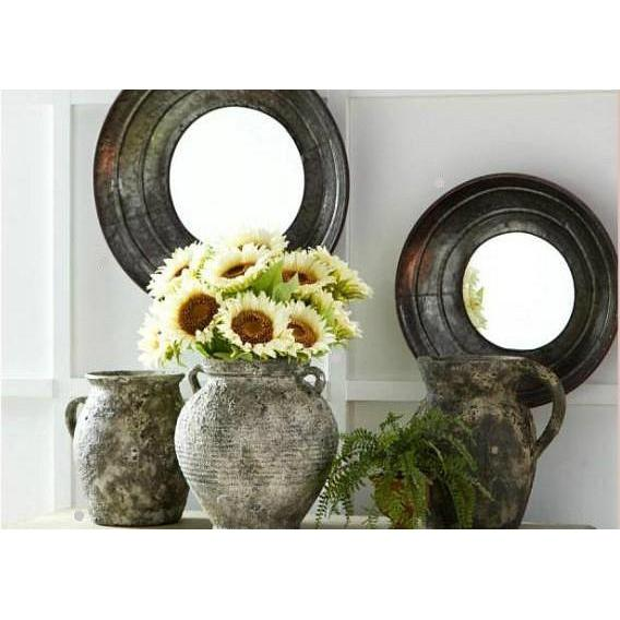 Set of 2 Metal Bowl Style Wall Mirrors
