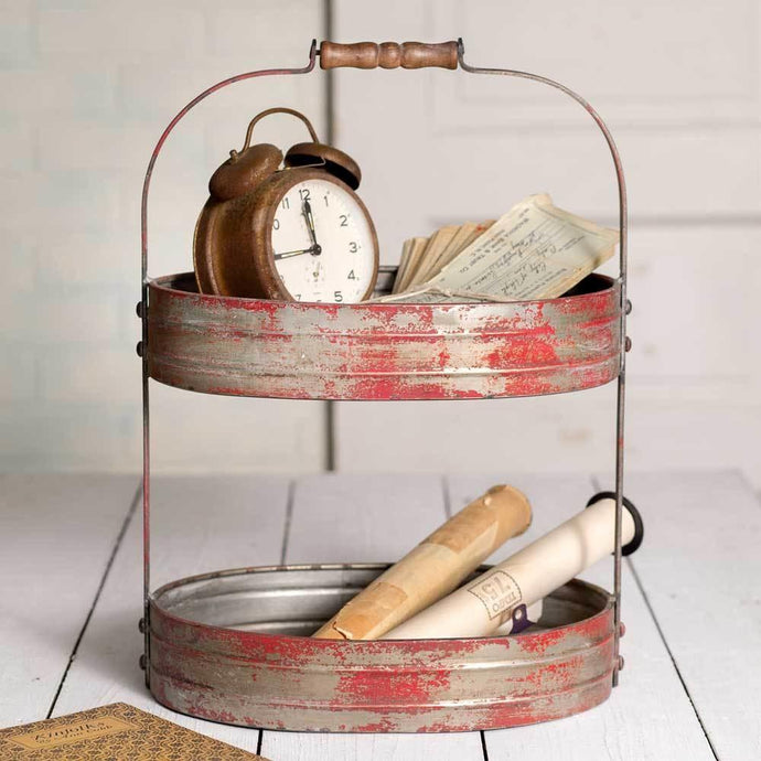 Distressed Red Serving Caddy - Decor Daily Deals