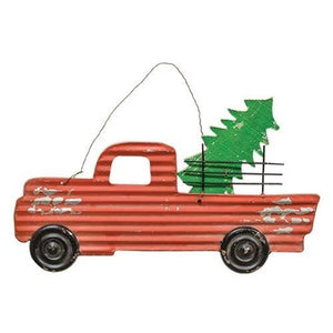 Red Truck Christmas Sign