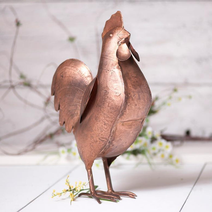 Copper Finish Rooster