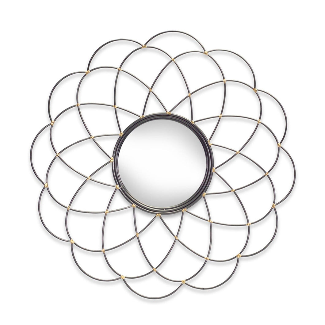 Metal Sprial Flower Shaped Wall Mirror- 29.75
