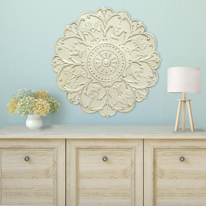 White Medallion Wall Decor