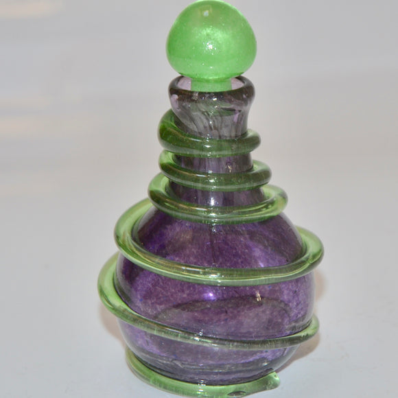 Purple and Green Spiral Scent Bottle