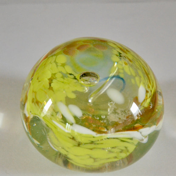 Green and Amber Demonstration Paperweight