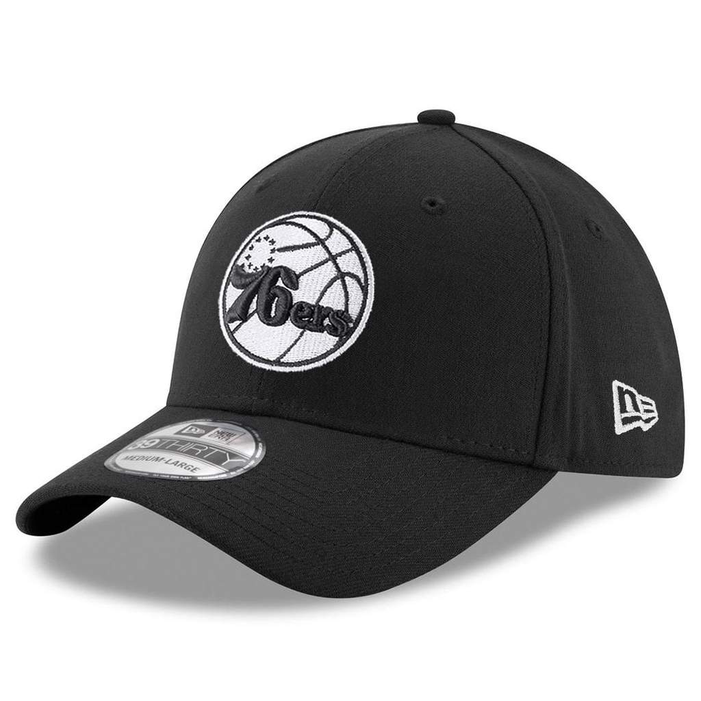 NEW ERA | MENS PHILADELPHIA 76ERS STRETCH-FIT 39THIRTY (BLACK/WHITE)