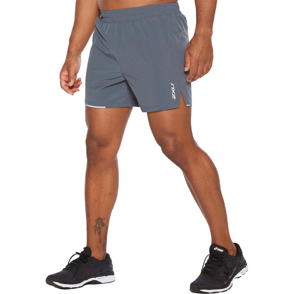 2XU | MENS XVENT 5INCH SHORT GREY/SILVER RELFECTIVE