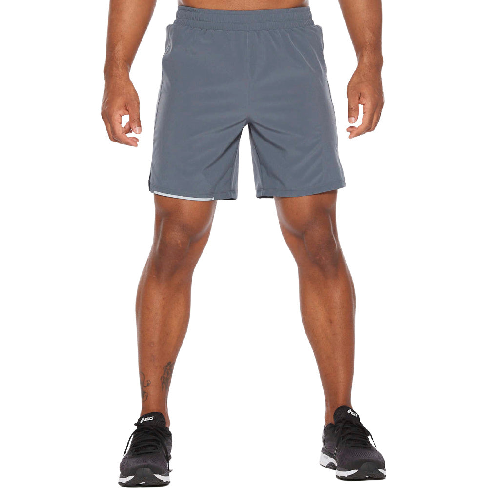2XU | MENS XVENT 7INCH SHORT GREY/SILVER REFLECTIVE
