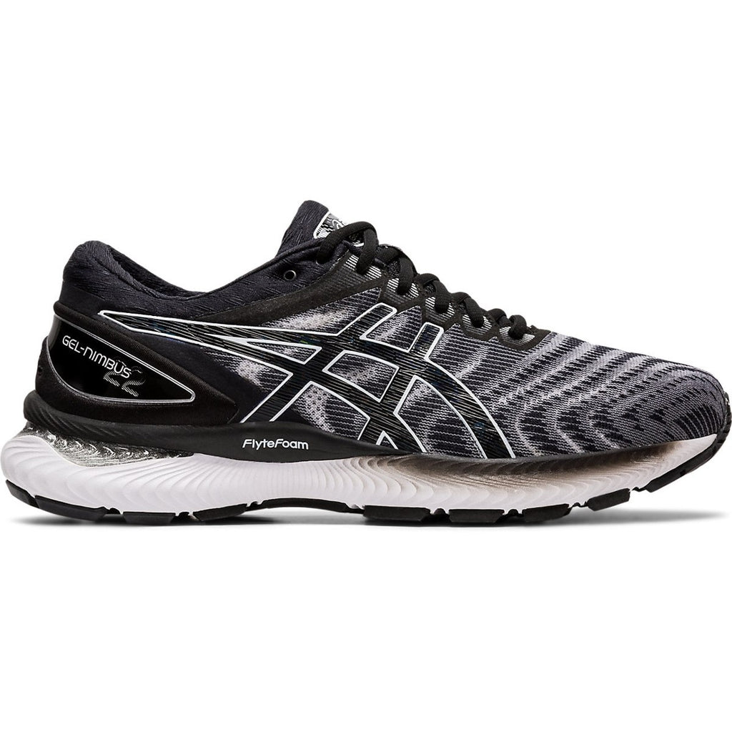 ASICS | WOMENS GEL-NIMBUS 22 D WIDE (WHITE/BLACK)
