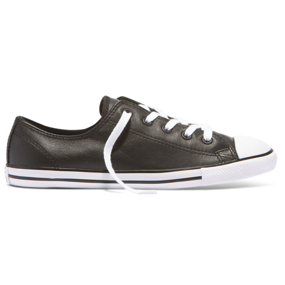 CONVERSE | WOMENS CT DAINTY LEATHER OX (BLACK)