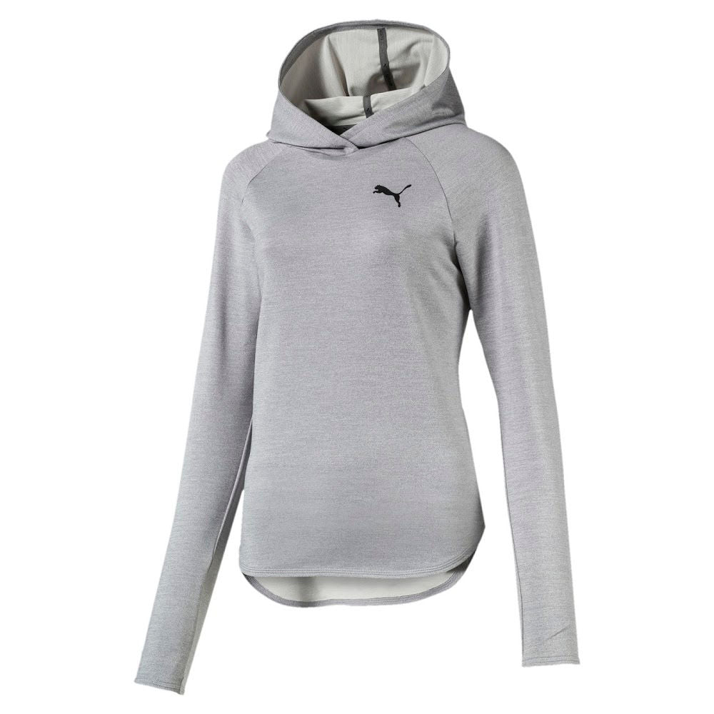 PUMA | WOMENS ACTIVE HOODIE (LIGHT GREY HEATHER)