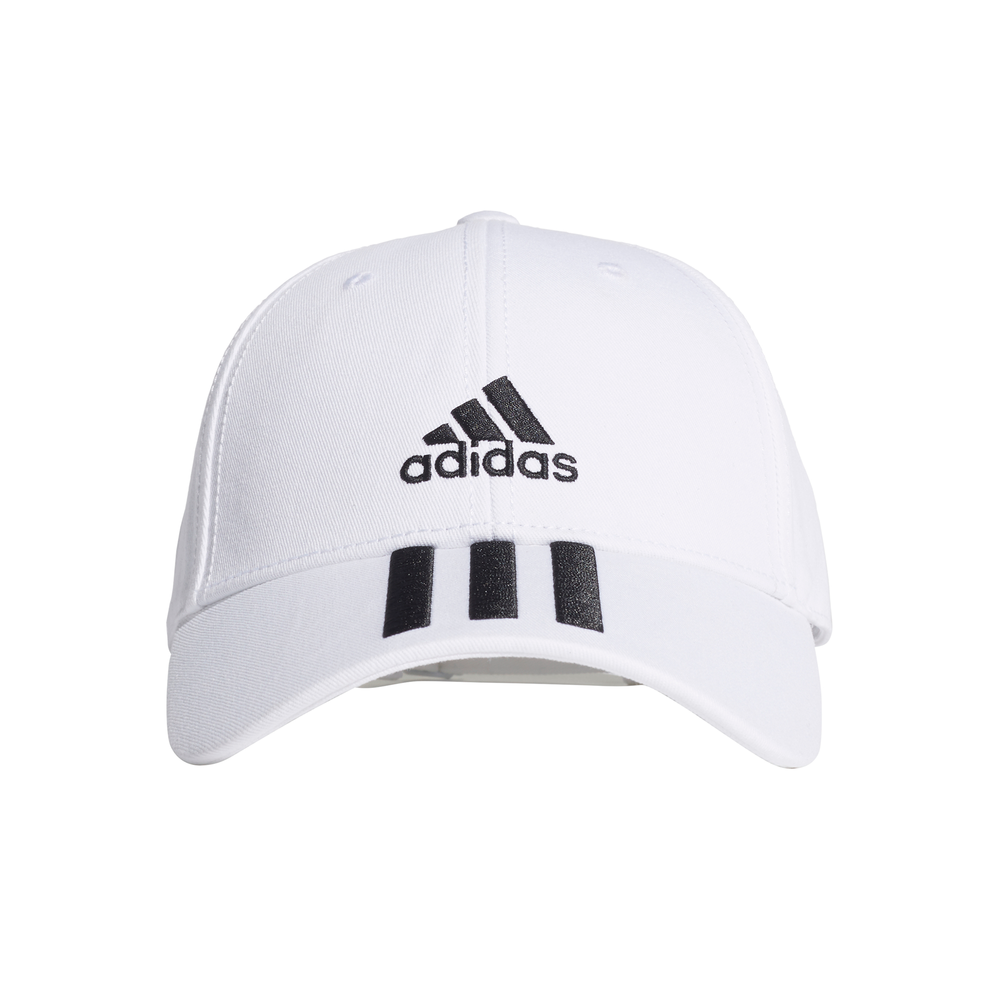 ADIDAS | BASEBALL 3-STRIPES CAP WHITE/BLACK