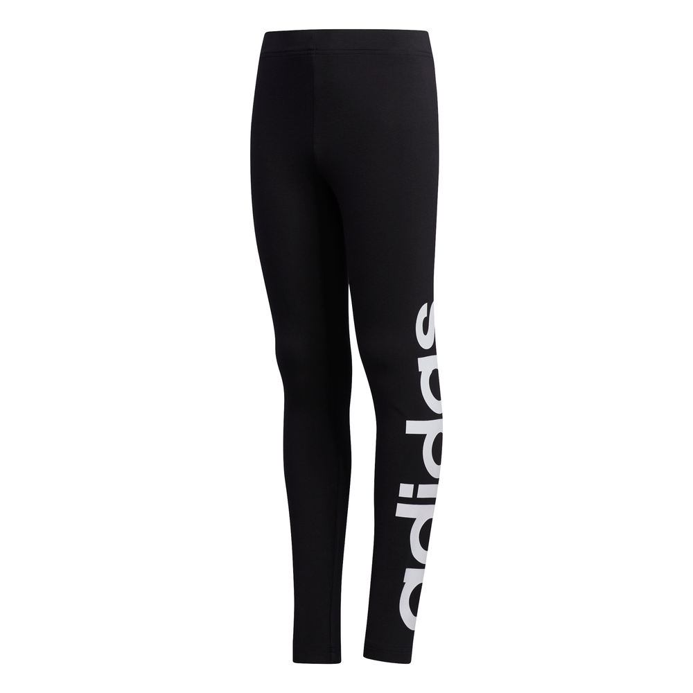 ADIDAS | YOUTH GIRLS LOGO TIGHTS BLACK/WHITE