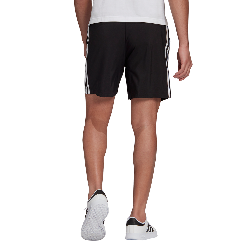 ADIDAS | MENS AEROREADY ESSENTIALS CHELSEA 3-STRIPES SHORTS (BLACK/WHITE)