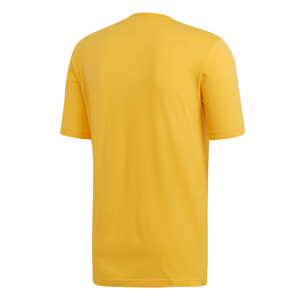 ADIDAS | MENS ESSENTIAL 3-STRIPES TEE (ACTIVE GOLD/WHITE)