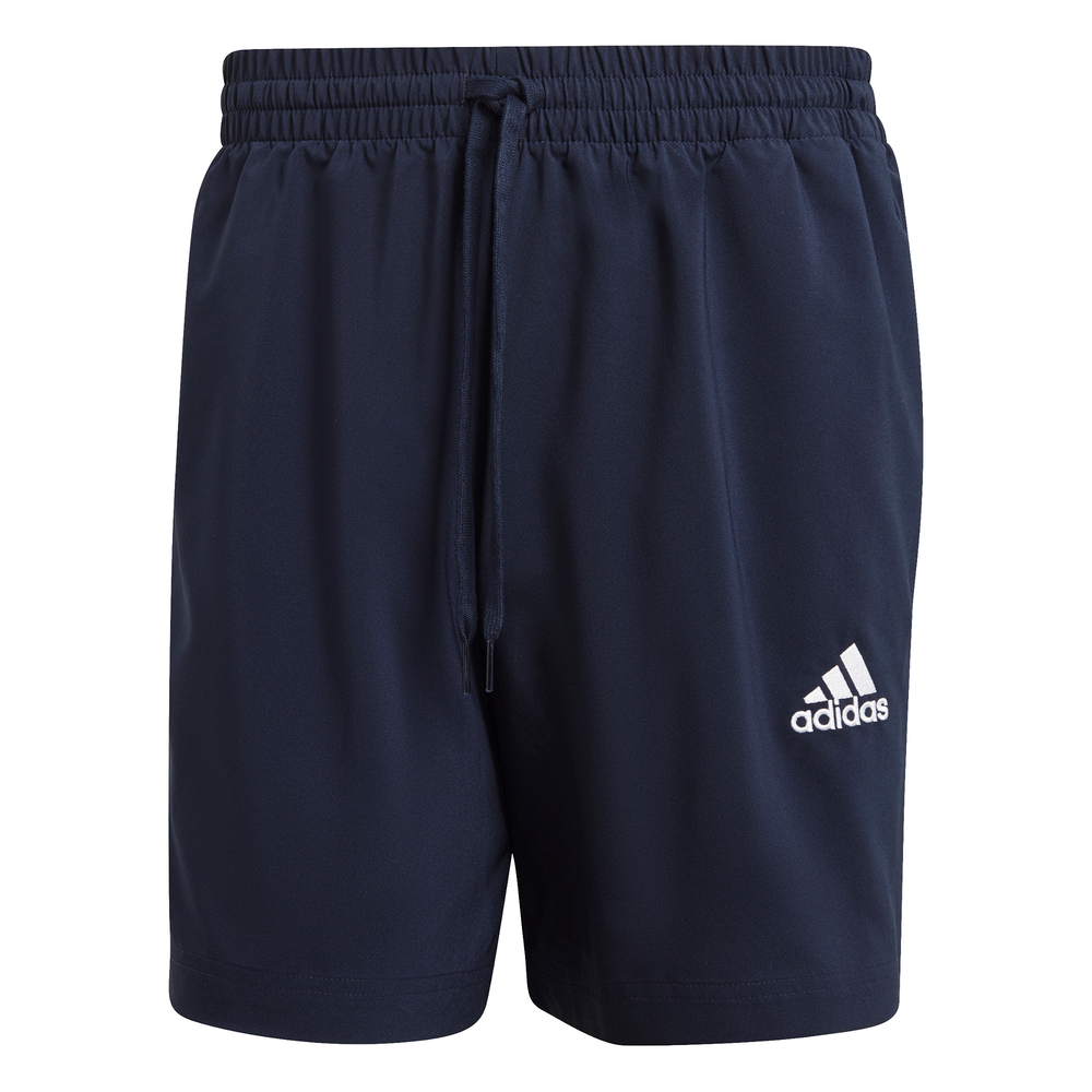 ADIDAS | MENS ESSENTIAL SMALL LOGO CHELSEA SHORTS (NAVY/WHITE)