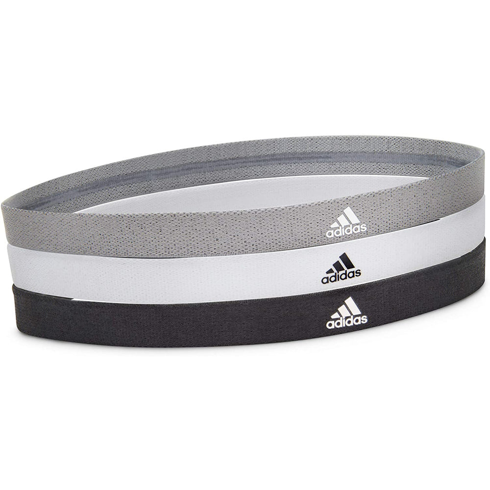 ADIDAS | SPORTS HAIR BANDS 3 PACK (BLK/GRY/WHT)