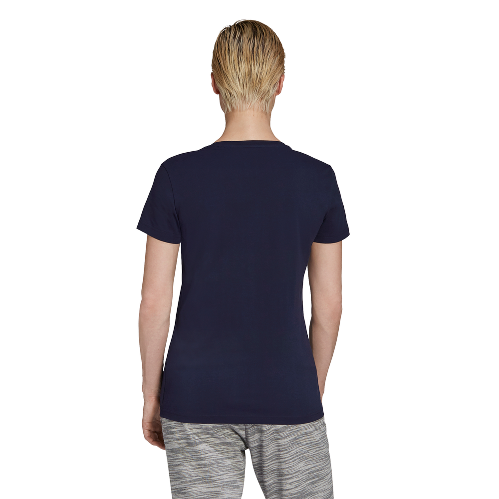 ADIDAS | WOMENS FOIL GRAPHIC TEE NAVY