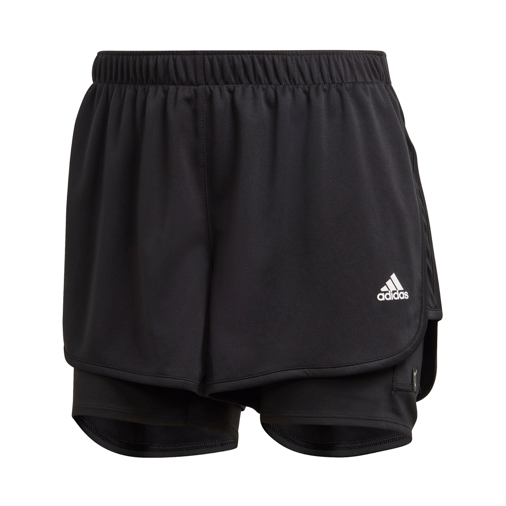 ADIDAS | WOMENS MARATHON 20 2-IN-1 SHORT (BLACK)