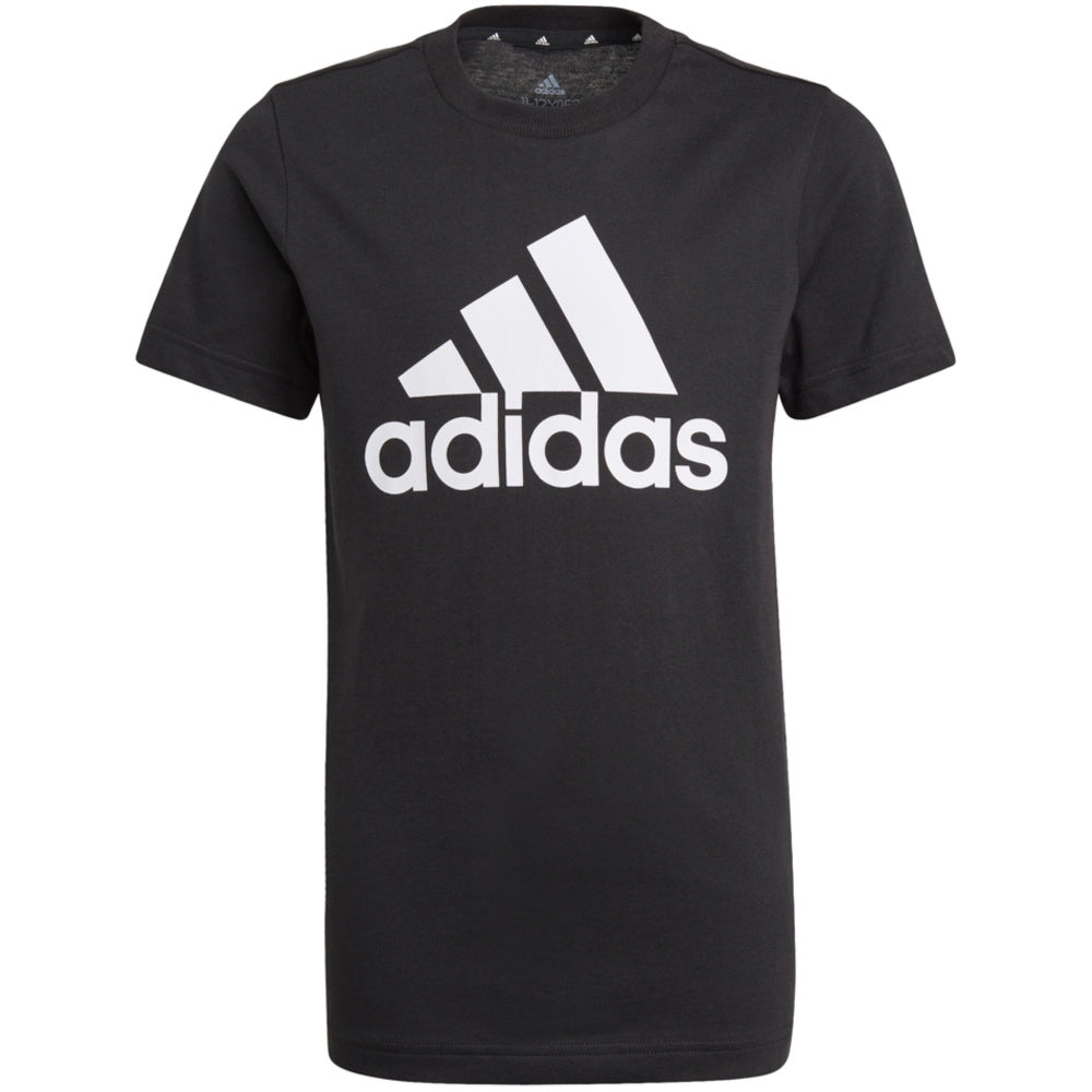ADIDAS | YOUTH BOYS ESSENTIALS TEE (BLACK/WHITE)