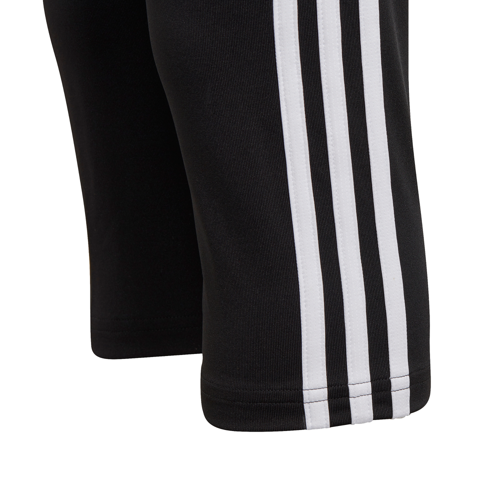 ADIDAS | YOUTH GIRLS DESIGNED 2 MOVE 3-STRIPES 3/4 TIGHTS (BLACK/WHITE)